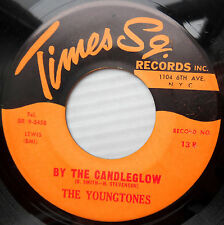 YOUNGTONES doowop 45 BY THE CANDLEGLOW b/w PATRICIA VG+ Times Sq. Records FM103