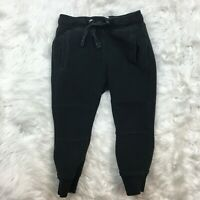 Zara Boys Collection Black Knit Elastic Waist Sweatpants Size 4