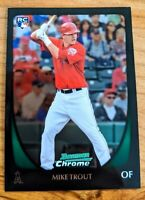 2011 Bowman Chrome 175 Mike Trout RC Angels Iconic Rookie Card