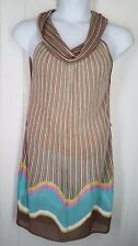 Missoni Dress size US 6 sleeveless cowl neck colorful knit striped womens