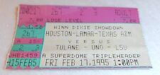VINTAGE 1995 HOUSTON COUGARS LAMAR TEXAS A&M AGGIES TULANE UNO LSU TIGERS TICKET