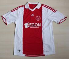 AJAX AMSTERDAM Home 2009/10 football shirt trikot maglia ADIDAS size L Authentic