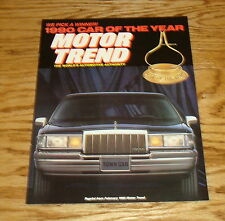 1990 Lincoln Town Car Motor Trend Car of the Year Sales Brochure 90