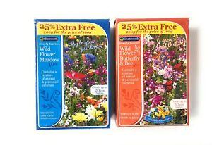 Wild Flower Seeds -  Butterfly & Bee Mix - Wild Flower Meadow Mix 200g Packs