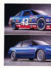 1992 1993 Pontiac Grand Prix Race SE 2-page Advertisement Print Art Car Ad J859