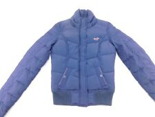 Hollister Womens Blue Full Zip Quilted Feather Down Filled Puffer Jacket S
