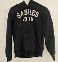 BUFFALO SABRES 1970 Official NHL Hockey Full Zip Hoodie Sweatshirt Mens Medium