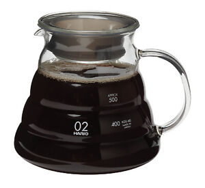 NEW HARIO V60 RANGE SERVER Dripper Glass Coffee Cup Pour Over Cone Filter Brewer