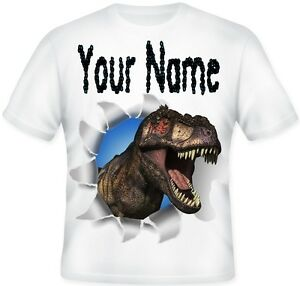 Dinosaur T Rex Boys TOP Kids Child's Personalised T Shirt Great  GIFT Idea!