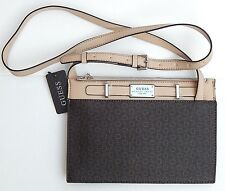 GUESS CROSSBODY BAG PRESENT BROWN/NATURAL LOGO AUTHENTIC  NEW