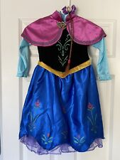 Frozen Deluxe Anna Dress Costume Size Xs 3T-4T - Cape & Hair Braid Included