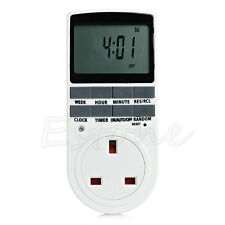 Programmable Digital Timer Switch Socket AC Electric Power UK Plug Timeswitch