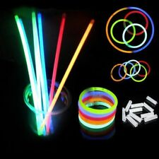 100 x Glow Sticks Bracelets Necklaces Neon Colors Party Favors Disco Rave 20cm