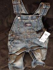 Boys OshKosh Genuine Vestbak blue Jeans bib overall 6M / 6 M - Months Dungarees
