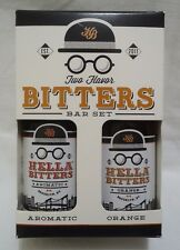 Hella Bitters Bar Set Two Flavor Aromatic Orange Flavoring Extract Travel Size