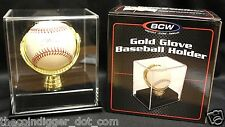 4 Gold Glove Baseball Holder Acrylic Display Case Deluxe MLB Autograph Storage
