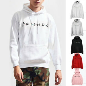 Women Men Couple Sweatshirt Friends Print Hoodie Hoody Jumper Pullover Outwear