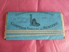 mercerie ancienne dentelle engrêlure pour coiffes Au Louvre emballage d'origine