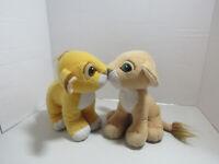 Vintage LION KING KISSING SIMBA NALA 1993 Disney Mattel Magnetic Noses Plush Toy