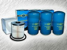 7.3L TURBO DIESEL 3 OIL FILTERS & 1 FUEL FILTER (NO CAP) KIT FOR FORD - AMAZING