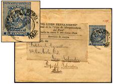 Peru 2¢ Ps Wrapper 1896 To Salvador Moll 2