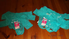 low rise thong pants / knickers, turquoise lace, women's wear uk size small