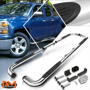 """For 99-16 Chevy/GMC/Ram Truck Ext/Crew Cab 3"""" Step Nerf Bar Running Board Chrome"""