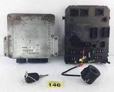 2001 PEUGEOT 206 2.0 HDI ECU SET KIT CHIAVE TRASPONDER BCM 9642013980