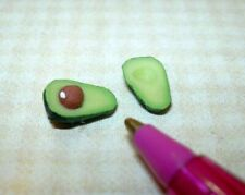 Miniature Avacado, Cut in Half, for DOLLHOUSE, 1:12 Scale Minatures