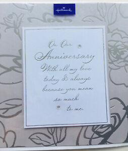 On Our Anniversary Card Silver Brand New And sealed