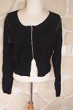 Gilet court noir neuf taille L marque Diplodocus 100% laine étiqueté à 119€