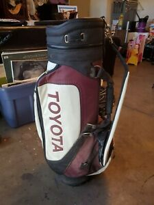 Toyota Belding Sports Golf & Travel Multi Pockets Compartments Red White Bag
