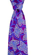 Mens ERMENEGILDO ZEGNA Purple Blue Woven Jacquard 100% Silk Tie Necktie NWT $250