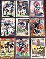 former Buffalo Bills NFL football auto autograph card LOT X9 Andre Reed +more!!!
