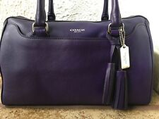 """Coach"" Rare #23574 Legacy Hailey Leather Marine Blue/Purple Satchel"