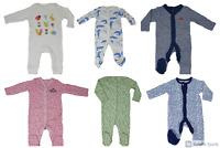 Ex Chainstore Babygrows Cotton Sleepsuits Unisex Boys Girls Newborn to 24-36 NEW
