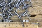 """3/4"""" square NAILS 50 quantity round small flat head brads vintage antique style"""