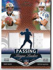PEYTON MANNING/DREW BREES 2007 PLAYOFF PRESTIGE PASSING JERSEY CARD #96/100!