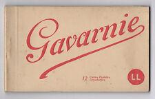 DÉPLIANT TOURISTIQUE TOURISME SOUVENIR Album de Gavarnie 12 Cartes postales CP
