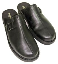 Clarks Collection Soft Cushion Slides Black Leather Women's Size 11 W, MSRP $129