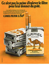 PUBLICITE ADVERTISING 094  1972  CAMEL  cigarettes