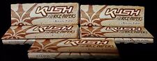 5 Packs KUSH Ultra Fine Rice Paper 1 1/4 Cigarette Rolling Papers 50 Per Pack