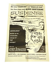 An Eye For An Eye One Sheet Theatrical Movie Poster 27x41 Vintage Oeil Pour Oeil