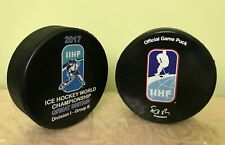 2017 IIHF OFFICIAL  game puck Ice hockey World Championship Great Britain