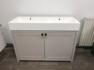 Vanity Unit 1200. Double Sink. Painted Vanity 120cm. Any Farrow & Ball Colour