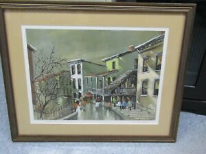 """Pencil Signed Robert Fabe """"After the Rain"""" Limited Edition Print"""