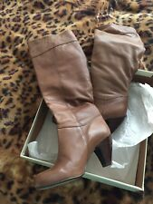 Faith Leather Tan Brown Boots Size 4