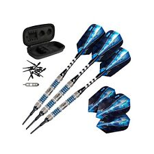 Viper Astro Tungsten Soft Tip Darts Blue Rings 16 Grams with Travel Case  Blue