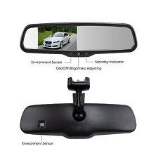 """Auto-Vox 4.3"""" LCD Car Auto Reversing Rearview Mirror Monitor for Camera DVD"""