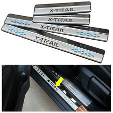 For Nissan Rogue X-TRAIL 14-15 Door sills scuff plate Guard Sills Panels Protect